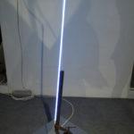 Filippo Centenari, Alpha-Tensione-2012-Ferro-neon-acciaio-limatira-di-ferro-e-trasformatore-cm.46x59x155