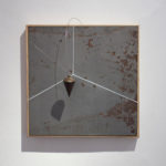Philip Centenari, Space-2012-metal-engraved-and-painted-wire-a-tin-and-steel-40x40x15-cm.-