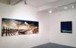 "Luca Gastaldo, ""Vespri"" 100×300 bitume e colorante su tela 2011"