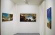 """Luca Gastaldo, """"Primi freddi"""" 80×160 bitume e colorante su tela 2011"""