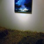 """Luca Gastaldo, """"Brividi"""" 80x80 bitume e colorante su tela 2012"""