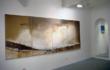 """Luca Gastaldo, """"Sapori della terra"""" 150×400 Bitume e colorante su tela 2009"""