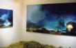 """Luca Gastaldo, """"Mattina presto"""" 150×300 bitume e colorante su tela 2012"""
