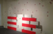 """Maria Rebecca Ballestra – """"I am because you are"""" – Installazione – mattoni, vernice, libellule colorate e video – 2012"""