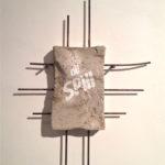 """Andrea Hazel - """"Oil Spill"""" - concrete cm. 66,5x44,5x7 - 2012"""