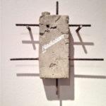 "Andrea Hazel - ""Radiation"" - concrete - cm. 30x30x6 - 2012"