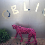 "Maria Rebecca Ballestra - ""OBLIVION"" - Cheetah purple resin and paint letters and glass mirror - cm. 86x120x30 - 2012"