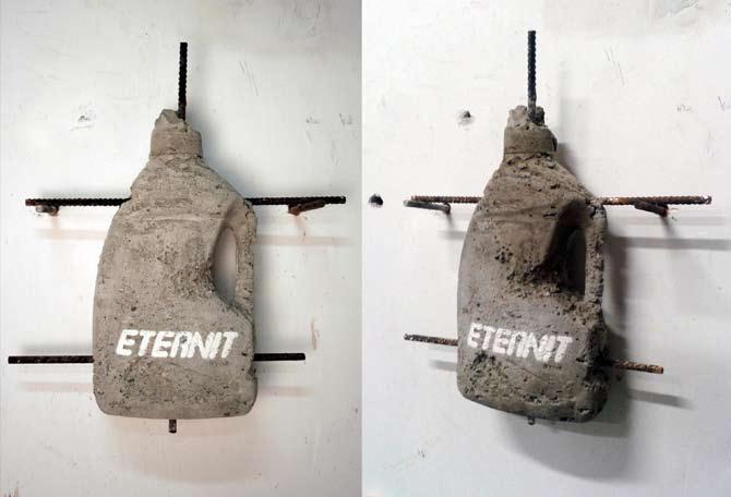 Andrea Francolino, Eternit, 2012 - Reinforced concrete - cm. 39,5x43,5x9,5