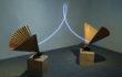Filippo Centenari, Elevazione-2012-ferro-carta-legno-neon-e-trasformatore-dimensioni-ambientali