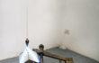 Filippo Centenari, Polarizzazione-S-2012-ferro-cemento-neon-filo-a-piombo-e-trasformatore-cm.-100x57x42