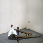 Philip Centenari, Polarization-S-2012-iron-concrete-neon-wire-to-lead-and-transformer-cm.-100x57x42