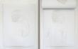 Melissa Provezza, If, olio su tela, supporto in legno (2 strati di tela dipinti,vista del I e del II strato), cm 70×50