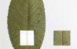 L'orMa, Plum line, 15,5×10,5cm, foglia naturale, cotone