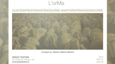 L'orMa | QUEVESIPRESTARANTENOSURSE-MARTOROPIRAVIGOMIDURSE