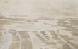 Caterina Sbrana, landscape from Google Earth, clay on paper, cm 20×30  2013