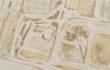 Caterina Sbrana, planimetry, mud and clay on paper, 2012