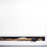 Matteo Tenardi, MOVING * - Oil and tempera on panel + Stone, 200x50x25, 2014