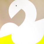 Royal swan (acrylic on canvas, 100X100, 2015)