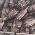 Fabio Giampiero - Panoramica sul centro di Bologna 2015 - cm. 100x140