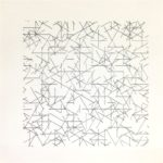 A. Zilocchi - Lines on paper years 80 - cm. 20x20 -1