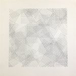 A. Zilocchi - Lines on paper years 80 cm. 20x20 - 2