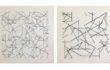 A. Zilocchi – Linee su carta anni 80 – serie di 4 da 20×20 cad – 1