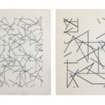 A. Zilocchi - Lines on paper years 80 - series of 4 20x20 cad - 1