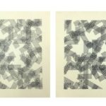 A. Zilocchi - Lines on paper years 80 -series of 4 from 20x20cm each. - 2