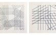 A. Zilocchi – Linee su carta anni 80 – serie di 4 da 20x20cm cad. – 3