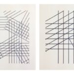 A. Zilocchi - Lines on paper years 80 - series of 4 from 20x20cm each. - 3