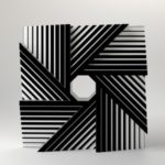 Marcello Morandini -Sculpture 487B - 2005 - Plexiglas black and white cm. 50x50x18 - Ed. of 3
