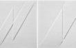 Rilievi, 1976, estroflessioni e acrilico su tavola, dittico cm.40 x80