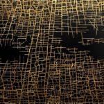Massimiliano Galliani - The paths of time # 10 2016 - Acrylic and gold i ...
