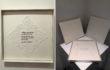 Ouvrage de dames 2012-2015, Tessuto, fili in scatole di cartone numerate, cm. 36×36