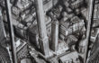Fabio Giampietro . Due Torri 2015 – olio su tela – cm.110×115